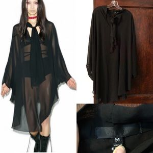 Widow sheer gothic dress/cape